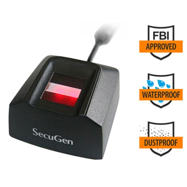 SecuGen Hamster Pro 20 Waterproof & FBI certified Fingerprint Reader
